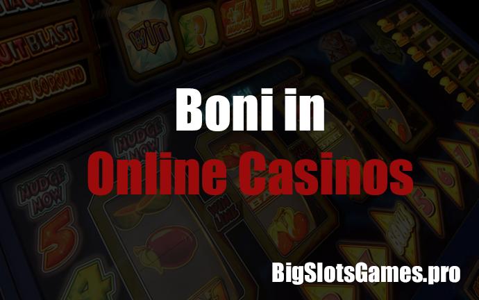 Boni in Online Casinos